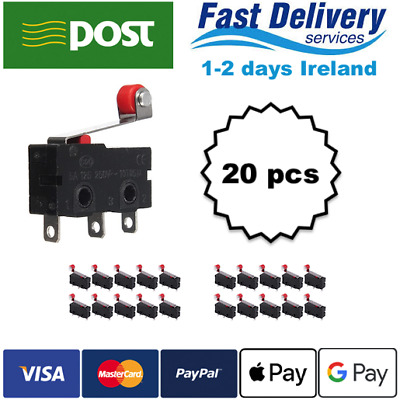 20x KW12-3 Micro Limit Switch Roller Lever 5A 125-250V Open/Close Switch KW11-N