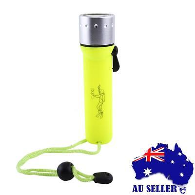 New Portable Underwater Waterproof Diving Flashlight Torch Light high quality AU