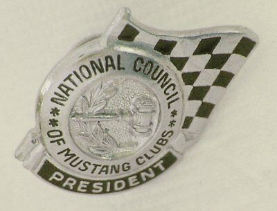 Vintage FORD MUSTANG CLUB: PRESIDENT Pin Badge; Collectible
