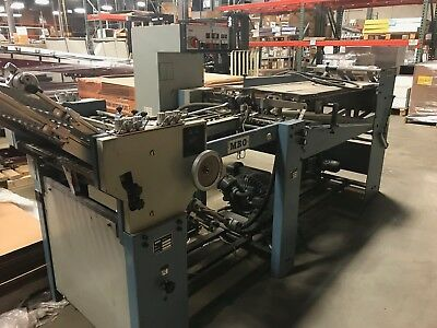 """MBO T49 Folder- 20"""" w/ 8pg unit, Continuous Feed, In running condition"""