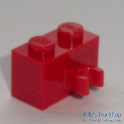 New LEGO Lot of 4 White 1x2 Bricks with Vertical Clip Classic Creator Buildings