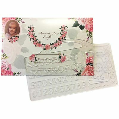 Scarlett Rose Crafts Diamond Trails Alphabet and Numbers Personalize Plate