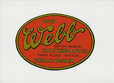 Webb Witch and Wasp Vintage Mower Catcher Decal