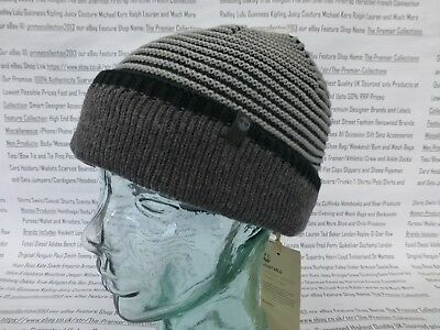 5e1179652a81e TIMBERLAND REVERSIBLE BEANIE 3in1 Double Layer Slouch Hat Black Grey O S Cap  New - EUR 26