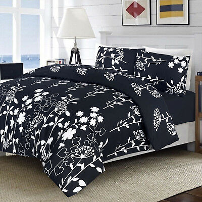 3Piece Duvet Quilt Cover Floral Bedding Set with 2 Pillowcase Single Double King