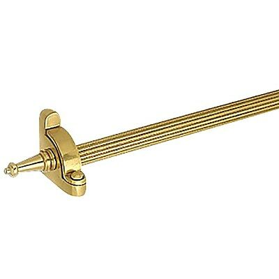 Carpet Rod Set 13 Brass RSF Reed Tubing Tower Finial | Renovator's Supply