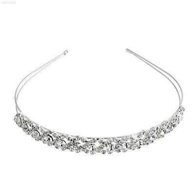 102F Crystal Rhinestone Wedding Bridal Diamante Tiara Headband Clasp Glitter