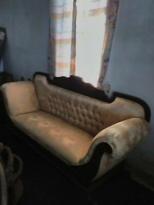 Antique Couch Stylish  Mix Of French Parlor,Victorian,Empire,Wood Carving,Tufted