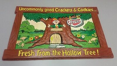 Vtg Plastic 3-D KEEBLER ELF Advertising Store Display Sign Large Uncommonly Good