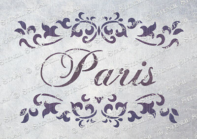 Paris Scroll STENCIL 4 sizes PS Vintage French Chic Furniture SUPERIOR 250 MYLAR