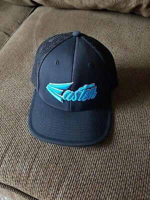 Easton Hat by Pacific Pro Model, Black/Teal Blue/Script Small/Medium - New!!