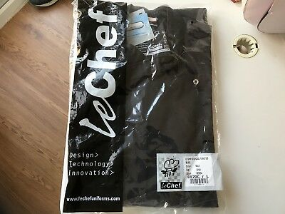 Le Chef Staycool Executive Chefs Jacket Size Large - Black