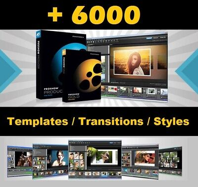 +6000 Templates, Transitions and Styles ProShow Producer Shipping by Download!