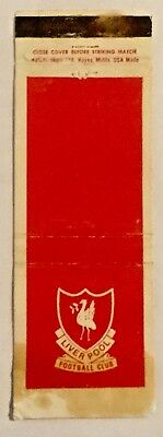 Vintage Liverpool Football Club  Matchbook