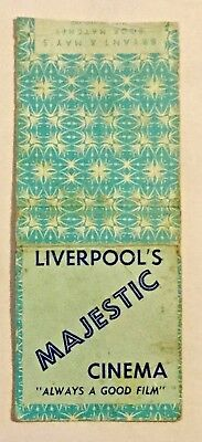 Vintage Majestic Cinema Liverpool  Matchbook