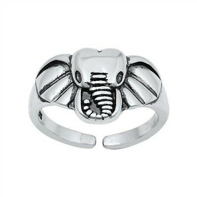 Adjustable Flowers Toe Ring Genuine Sterling Silver 925 Jewelry Best Gift 4 mm