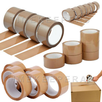 Packing Tape Long Length Brown Strong - Brown 48mm x 66m Parcel Package Tape
