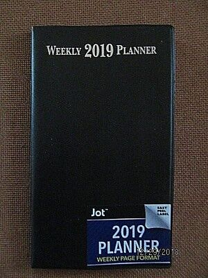 2019 Weekly Black PLANNER Calendar Airlines Hotels Rental Pocket Purse Organizer