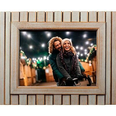 "Polaroid 8"" Digital Picture Frame Whitewashed Wood Frame LED Hi Resolution New"