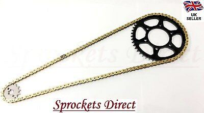 Yamaha Sr125 (3Mw8) Gold Heavy Duty Chain And Sprocket Kit '95-03