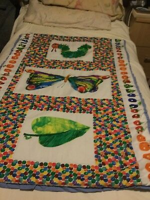 handmade cot quilt   Showing The Hungry Caterpillar