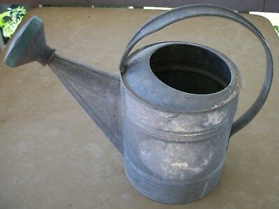 3. Vintage Galvanized Number 8 Watering Can With Rose