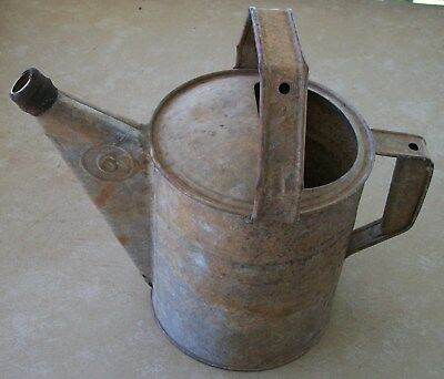 4.  Vintage Galvanized Number 6 Watering Can