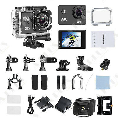 Action camera 4K Sports Ultra HD DV Wifi 16MP 1080p Camcorder W/RC
