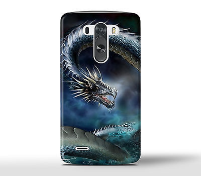 Angry Dragon In The Sea Ocean - Hard Phone Case Cover Fits LG G Models