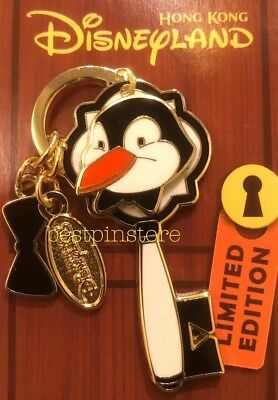 Hong Kong Disney pin HKDL Monthly Key LE 400 Pin - Mary Poppins Penguin Waiters