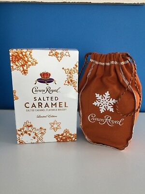 Crown Royal Salted Caramel Limited Edition (2) Bottles - NIB Collectible