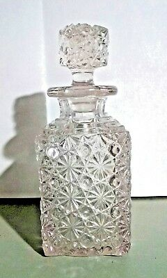Vintage CUT GLASS BARWARE DECANTER BOTTLE