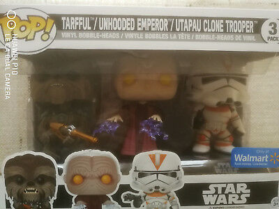 """STAR WARS 3 Pack, TARFFUL; UNHOODED EMPEROR; UTAPAU CLONE TROOPER"" NEU"