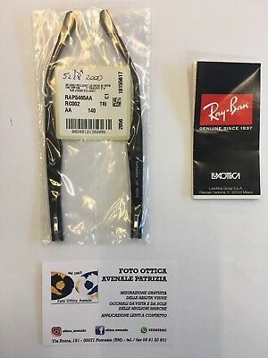 RAY BAN ASTE RICAMBIO RX 5228 COL. 2000 nero  REPLACEMENT ARMS NEW ORIGINAL