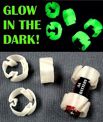 50 Pcs Glow In The Dark Custom Battery Adapter Convert Aa To C Battery Pr15_50Gl