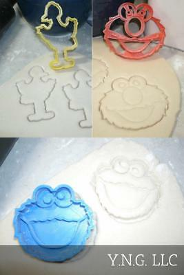Sesame Street Elmo Cookie Monster Big Bird Characters Set 3 Cookie Cutter Pr1005