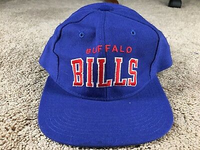 a20213d28ff ... authentic vintage buffalo bills hat starter arch snapback cap blue  football wool nfl 90s 2ae44 c788a ...