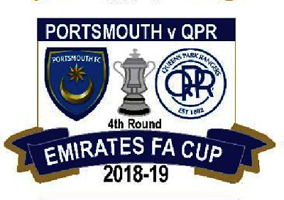 Portsmouth Queens Park Rangers Limited Edition Rare 2019 Cup 4Th Round Badge