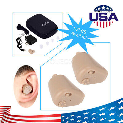 1 Pack Rechargeable Digital Mini In Ear Hearing Aid Adjustable Tone Amplifier