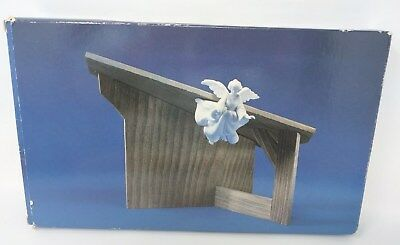 Avon Nativity Collectibles THE STABLE for White Porcelain Bisque Figurines