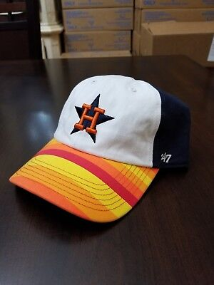 12c622786a7 Houston Astros 47 Brand Clean Up Adjustable MLB Cap Navy Multicolored
