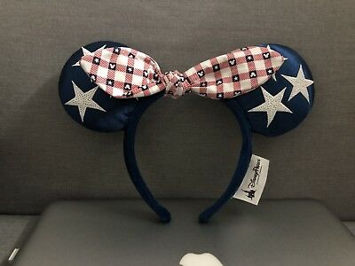 NEW Disney Parks All American Girl Minnie Mouse Ears Bow Headband Hat