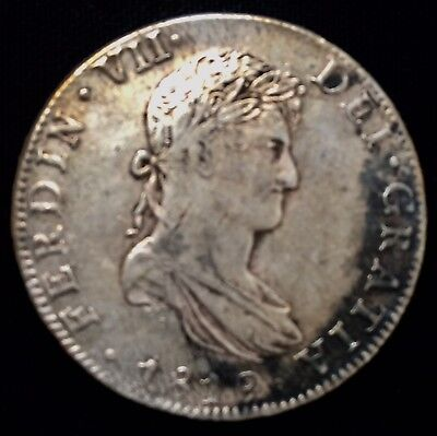 1819 Mo JJ  8 Reales War of Independence