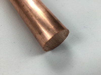Copper Round Bar Rod 6mm, 8mm, 10mm, 12mm, 20mm, 30mm, 40mm, 50mm, 70mm, 9mm....
