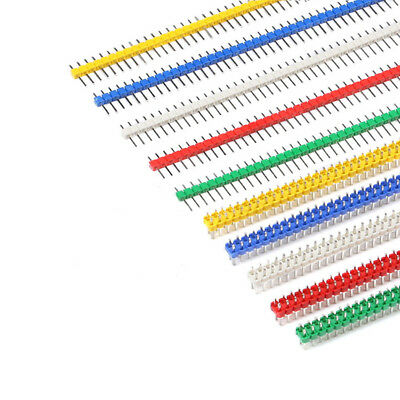 2.54mm 40 Pins PCB Male Header Pin Single/Double Row Coloured Connector Strip