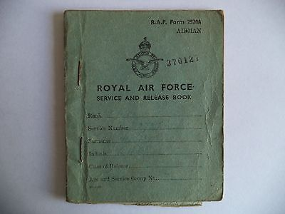 Royal Air Force Service And Release Book - 1945-1948