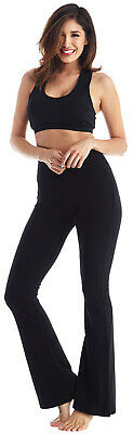 Viosi Womens Yoga Pants Premium 250gsm Fold Over Cotton Spandex Lounge Flared