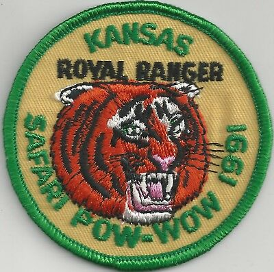 1991 Royal Rangers Kansas District Safari Pow Wow Patch