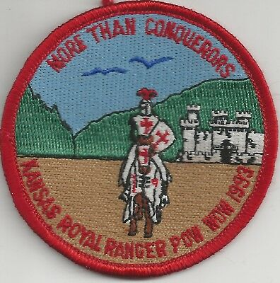 1993 Royal Rangers Kansas District More Than Conquerors Pow Wow Patch