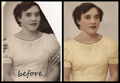 Digital Photo Restore Repair Retouch Old Photos Service